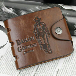 Men#x27;s Leather Wallet ID Credit Card Holder Clutch Bifold Pocket Coin Purse NEW $7.79