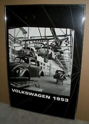 Extremely Rare Peter Keetman Volkswagen 1953 Assembly Line Art 24 X 36 Photo