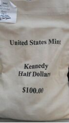 2001pandd Kennedy Halves 100 Face Mint Sewn Bag 5a3 Sealed Box Free Shipping