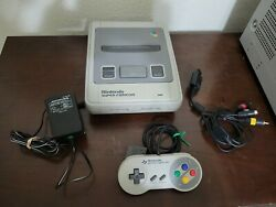 Super Famicom Console With Cables And Controller Japan Tested Working Us Seller