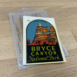 Original Vintage Travel Decal Bryce Canyon National Park Highway Old Rv Window