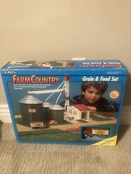Vintage 1991 Ertl Farm Country Grain And Feed Set 73 Pieces New Sealed 4303