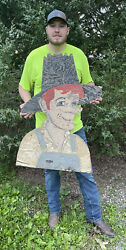 Rare One Of A Kind Original Mountain Dew Vintage Sign - Missouri Find With Story