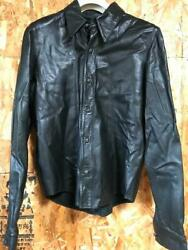 Chrome Hearts Authentic Leather Shirt Jacket Size M Tops Long Sleeves Fashion