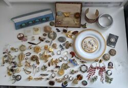 Boxes Included Vintage Brooches Rings Costume Jewellry Joblot Bundle