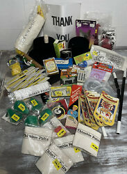 Vintage Magic Lot Of 57 Money Paddles Cards, Thumb, Flowers, Devils Bank, Wands