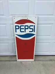 """Vintage One Of A Kind Monster Pepsi Cup Vertical Advertising Sign 48"""" X 24"""""""