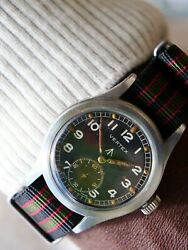 Vintage Vertex Www Dirty Dozen Rare Original Dial Menand039s Military Watch 1940and039s