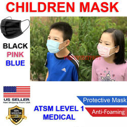 CHILD Face Mask MEDICAL Surgical Dental Disposable 3 PLY Earloop Mouth Cover USA $6.45
