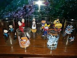 Vintage Character Glasses Lot Peanuts Looney Tunes Popeye Muppets Mcdonalds 8pc