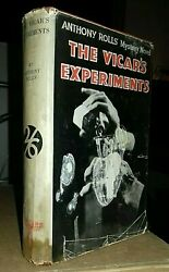 Anthony Rolls The Vicar's Experiments Geoffrey Bles 3rd 1932 Hardback In D/j