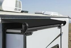 Carefree Alpine 166.5w Solid Black Rv Slide-out Awning W Weatherguard And Rails