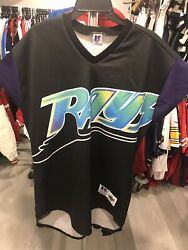 Authentic Turn Ahead The Clock Russell Tampa Bay Devil Rays Mlb Baseball Jersey