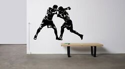 Boxing Boxer Ring Referee Knockout Fight Hit Wall Vinyl Decal Art Design Tk4130
