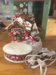 Mandmand039s Dept 56 Santa House Lighted House And Candy Dish With Box