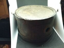 Antique Period Civil War Wood And Metal Canteen Confederate Union 8 Indian
