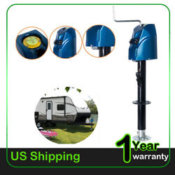 Electric Led Power Lift Tongue Jack 12v 4000lbs Camper Rv Trailer Level Us Stock