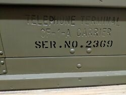 Ww2 Army Telephone Terminal Cf-1-a Carrier Unit New See Pics Western Electric