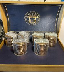 2007p And 2007d 1 Presidential 72 Total 6 Rolls-12 Coin Rolls, Sealed By Wrme
