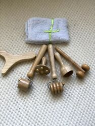 Wood Therapy Maderoterapia Facial Kit 6 Pieces + Towel Gift 100 Colombia