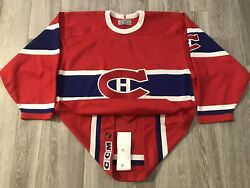 91-92 Authentic Ccm Turn Back The Clock Tbtc Montreal Canadiens Hockey Jersey 50