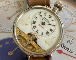 Beautiful And Very Rare Crown 8 Day Converted Wristwatch Hebdomas Style