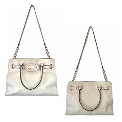 Hamilton Tote With Rose Gold Hardware, Ivory Color