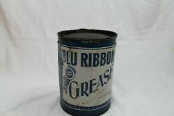 Vintage Blu Ribbon 5 Lbs. Grease Oil Can Sign