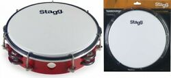 Stagg Tab-208p/rd Red 8-inch Tunable Plastic Tambourine With 2 Rows Of Jingles