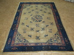 10 X 13and0398 Hand Knotted Blue Antique Oriental Rug Chinese Peking Rug G10991
