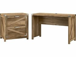 Kathy Ireland Home By Bush Furniture Cottage Grove 48 Writing Desk With Lateral
