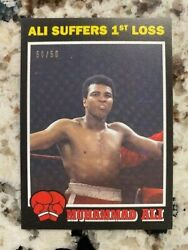 2021 Topps Muhammad Ali People's Champ Black Parallel /56 Card 34 Gets 1st Loss