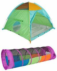 Pacific Play Tents Super Duper Ii Dome Tent And Tunnel 2 Piece Bundle 58 X 5...