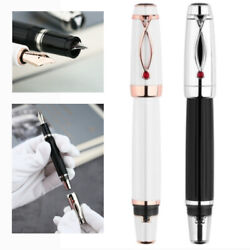 Mojiang X1 Retractable Resin Fountain Pen Ef Nib Ink Pen Writing Gift Office New