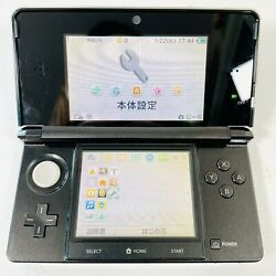 Nintendo 3ds Console Cosmo Black - Plays Us Games - W/ 4gb Sd
