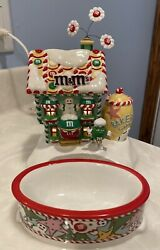 Rare 2004 Dept 56 Mandmand039s Christmas Bakery Lighted House And Candy Dish