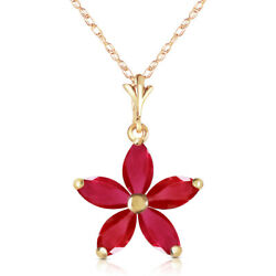 1.4 Ct 14k Solid Yellow Gold Festival Of Hope Ruby Pendant Necklace Made In Usa