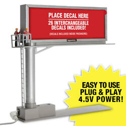Menards O Scale 26-sign Lighted Billboard Decal Set 2 26 Interchangeable Signs