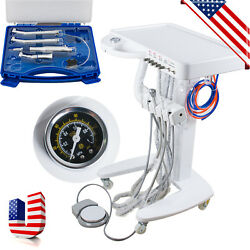 Dental Delivery Unit Mobile 4 Hole High Speed Handpiece Cart And Handpiece Set Ups
