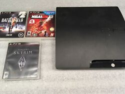 Sony Playstation 3 Slim 120gb Cech-2001a 120 Gb Ps3 System Console Tested Games