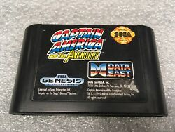 Captain America And The Avengers Sega Genesis 1992 Tested Clean Cartridge Only