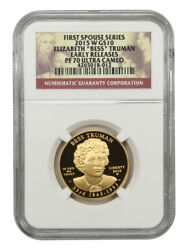 2015-w Bess Truman 10 Ngc Proof 70 Ucam Early Releases