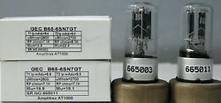 1mp B65 6sn7gt Gec Metal Base Cup Getter Amplitrex At1000 Tested665003and11
