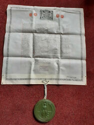 George Vi Great Seal Of The Realm And Custos Rotulorum Royal Letter 1948