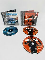 Sony Playstation 1999 Psx Driver 1 And 2 You Are The Wheelman Is Back Lot Cib