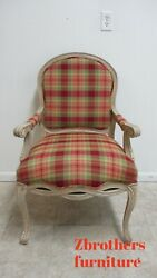 Bassett Furniture French Country Living Room Arm Chair Fireside Plaid B