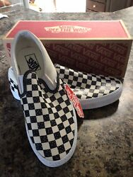 Classic Confetti Checkered Slip-on Men 9.5 Woman 11 Casual Skate Shoes Nwt