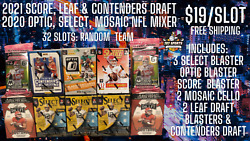 2020 Optic, Select, Mosaic And 2021 Score, Leaf And Contenders Draft Mixer Break Rt