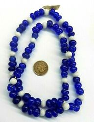 Pre 1800's European Wire Wound And White Russian Facetted African Trade Beads B7