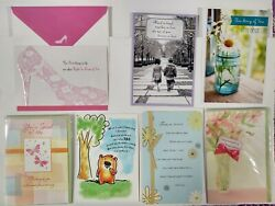Assorted Lot Of 481 Greeting Cards Birthday Anniversary Thank You Get Well Cards